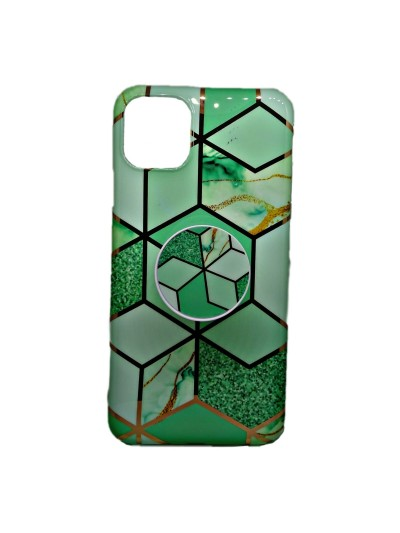 HUSA IPHONE 11 PRO MARBLE SUPORT INCLUS VERDE