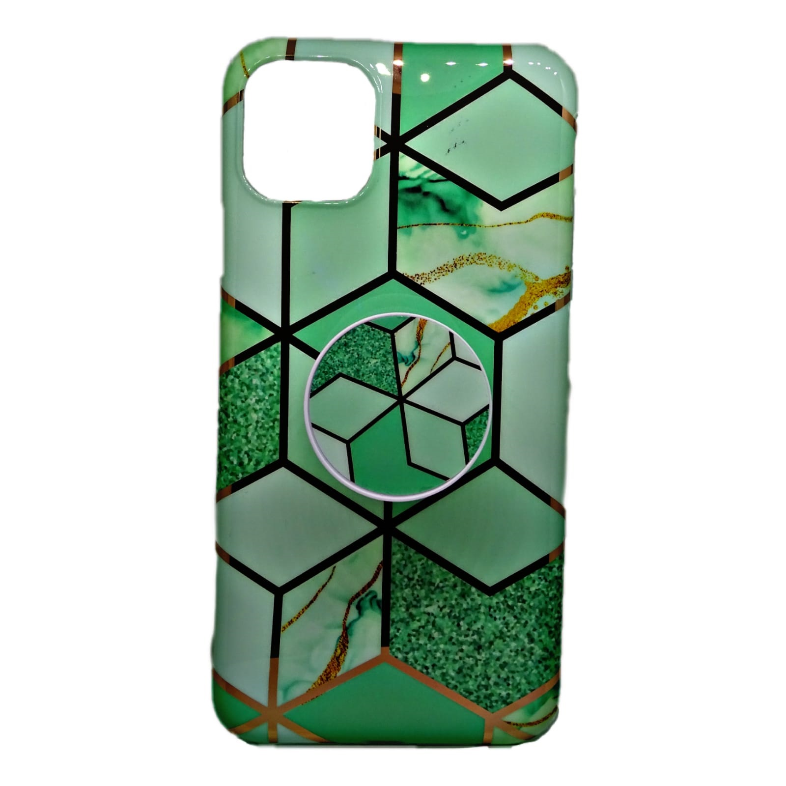 HUSA IPHONE 11 PRO MAX MARBLE SUPORT INCLUS VERDE